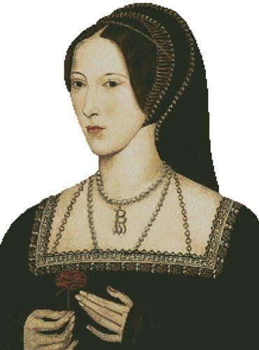 Anne Boleyn (No Background) by Artecy printed cross stitch chart